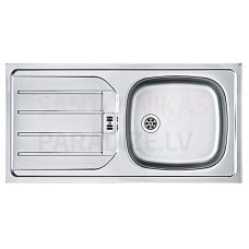 FRANKE nerūsejošā tērauda virtuves izlietne EUROSET 86x43.5 cm