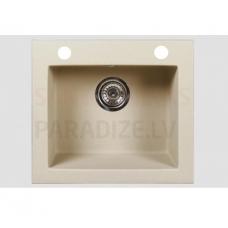 Akmens massas virtuves izlietne ARGO 48.5x44cm, bēšīga (beige granit)