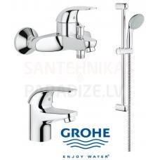 GROHE vannas jaucējkrānu komplekts Euroeco