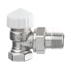 Heimeier Calypso-exact termostata vārsts ar iepriekšēju iestatīšanu (leņķa) DN15 Kvs-0.86
