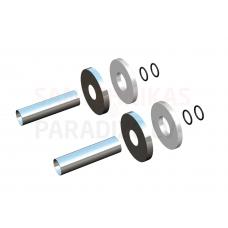 HERZ DE LUXE hromētas dekoratīvas uzlikas caurulēm un apaļi nosegvāciņi DN18 L-70mm