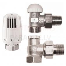 HERZ radiatora termoregulatoru komplekts 1/2' (leņķa)