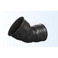 Magnaplast gofrēta kanalizācijas līkums Ø 200 mm 15°