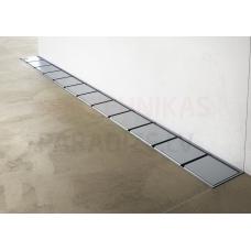 Ravak 10° dušas notekkanāls pie sienas no nerūsējošā tērauda 1050 mm