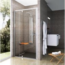 Ravak dušas durvis Pivot PDOP2 100 melns + caurspīdīgs stikls