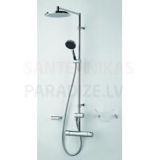 Oras termostata dušas jaucējkrāns ar dušas komplektu CUBISTA 2892