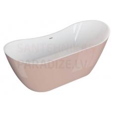 POLIMAT brīvi stāvoša akrila vanna ABI 180x80 (rozā) + sifons
