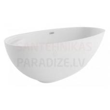 POLIMAT brīvi stāvoša akrila vanna KIVI 165x75 (balta) + sifons