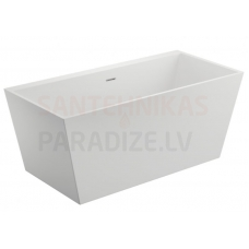 POLIMAT brīvi stāvoša akrila vanna LEA 170x80 (balta) + sifons