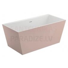 POLIMAT brīvi stāvoša akrila vanna LEA 170x80 (rozā) + sifons