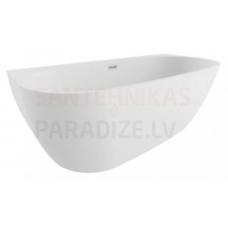 POLIMAT brīvi stāvoša akrila vanna RISA 170x80 (balta) + sifons