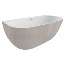 POLIMAT brīvi stāvoša akrila vanna RISA 170x80 (pelēka) + sifons
