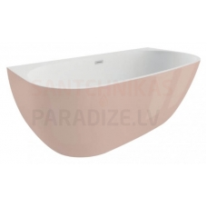 POLIMAT brīvi stāvoša akrila vanna RISA 170x80 (rozā) + sifons