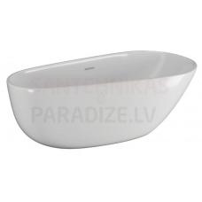 POLIMAT brīvi stāvoša akrila vanna SHILA 170x85 (balta) + sifons