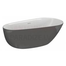 POLIMAT brīvi stāvoša akrila vanna SHILA 170x85 (grafīts) + sifons