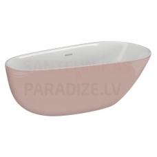 POLIMAT brīvi stāvoša akrila vanna SHILA 170x85 (rozā) + sifons