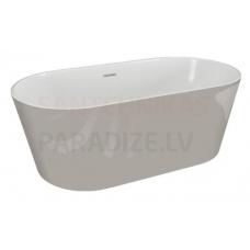 POLIMAT brīvi stāvoša akrila vanna UZO 160x80 (pelēka) + sifons