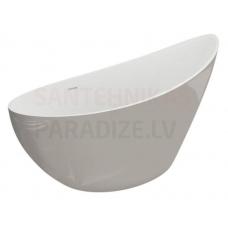 POLIMAT brīvi stāvoša akrila vanna ZOE 180x80 (pelēka) + sifons