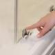 Ravak dušas kabīne Blix Slim BLSRV2K 100 melns + caurspīdīgs stikls