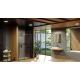 Ravak dušas durvis Blix Slim BLSDP2 120 melns + caurspīdīgs stikls