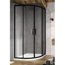 Ravak dušas kabīne Blix Slim BLSCP4 80 melns + caurspīdīgs stikls