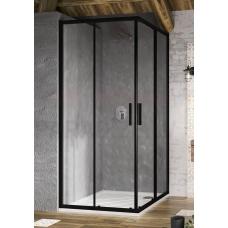 Ravak dušas kabīne Blix Slim BLSRV2 80 melns + caurspīdīgs stikls