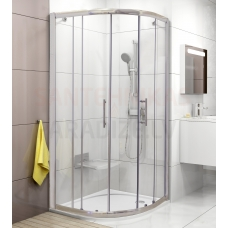 Ravak stūra dušas kabīne Chrome XP1CP4-90 spīdīga + caurspīdīgs stikls