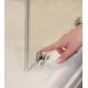 Ravak fiksētā dušas siena Blix Slim BLSPS 80 melns + caurspīdīgs stikls