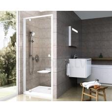 Ravak dušas durvis Pivot PDOP1 80 balta + caurspīdīgs stikls