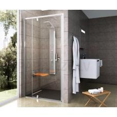 Ravak dušas durvis Pivot PDOP2 100 balta + caurspīdīgs stikls