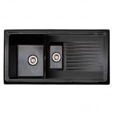 Reginos keramiska virtuves izlietne RL 401 CW Black 101x52.5mm
