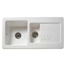 Reginos keramiska virtuves izlietne RL 501 CW White 100x50cm