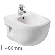 Bidē Meridian Compact, stiprināms pie sienas, 360x480 mm, balts