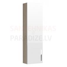 Augstais skapis Prisma, 350x200 mm, h=1200mm, 1D, ash wood/spīdīgi balts