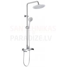 Rubineta dušas komplekts-sistēma ar vannas jaucējkrānu OLO+ULTRA-10 (SW) (DV3/4)