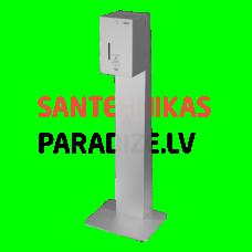 SANELA Automātisks nerūsējošā tērauda šķidruma/želejas dezinfekcijas un ziepju dozators - iekļauts sienas statīvs