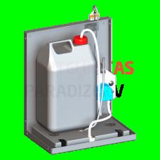SANELA Automātisks pie sienas piestiprināms šķidrumu un želejas dezinfekcijas dozators, 24 V DC