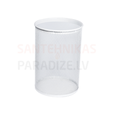 SANELA Apaļa atkritumu tvertne/miskaste, balta, 13 L