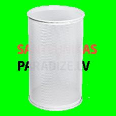 SANELA Apaļa atkritumu tvertne/miskaste, balta, 32 L
