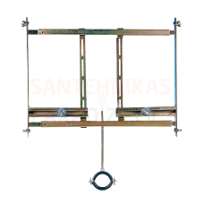 SANELA montāžas rāmis pisuāriem ar radara skalošanas ierīci, kas uzstādīta aiz pisuāra