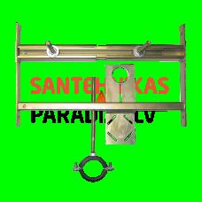 SANELA montāžas rāmis pisuāriem ar radara skalošanas ierīci, kas uzstādīta uz montāžas listes