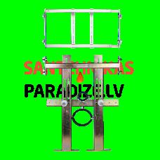 SANELA montāžas rāmis piekarama tualetes poda un tualetes skalošanas ierīces montāžai uz ģipškartona