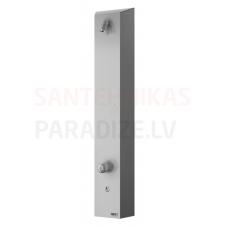 SANELA nerūsejošā tērauda dušas panelis ar Piezo pogu SLSN 02P 24V ar jaucējkrāns