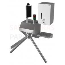 SANELA turnikets ar termovizuālo kameru un dezinfekcijas dozatoru SLKT 04