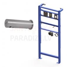 SANELA automātiskais nerūsējošais sienas ziepju dozators, 1 l ziepju tvertne, kopā ar SLR 24 montāžas rāmi, 24 V
