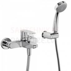 FLAT-TRES 3-daļīgs vannas jaucējkrāns ar dušu