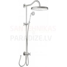 TRES CLASIC RETRO Pretkaļķu dušas sistēma, tērauda