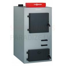 VIESSMANN malkas/koksnes gāzes ģenerācijas apkures katls Vitoligno 100-S (25kW) ar automātiku un izolāciju