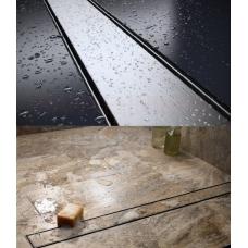 Flīzējams divpusējs dušas kanāls AQUER no nerūsējošā tērauda 500 mm 050 – 44l/min