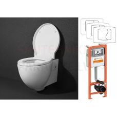 AKCIJA KAME OVALO WC piekaramā poda komplekts